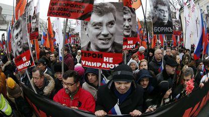 Decenas de miles de personas marcharon en Rusia para protestar por el asesinato de Boris Nemtsov