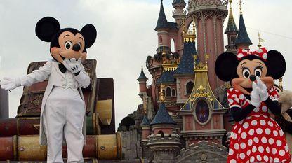 Mickey y Minnie en Eurodisney