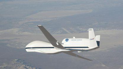 O Global Hawk é un avión da NASA por control remoto que pode voar a 20.000 metros de altura