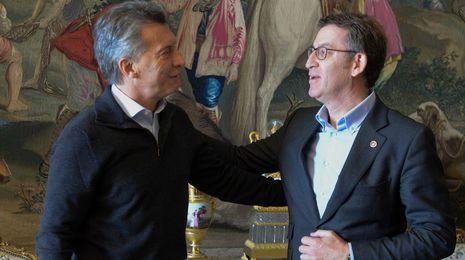 Feijoo y Macri ven oportunidades en la «nueva etapa» iniciada en Argentina
