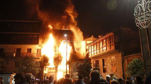 Incendio en pleno corazón de Pontevedra