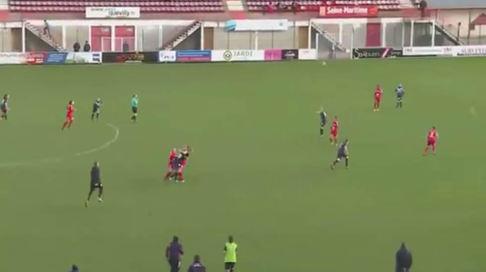 Brutal pelea en el fútbol femenino francés