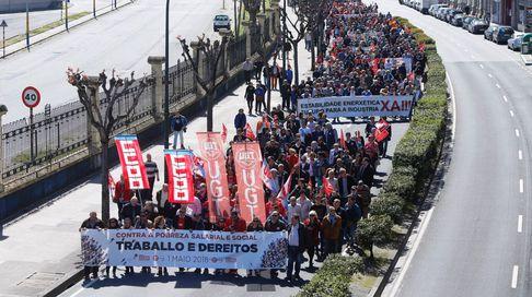 Manifestación de CC.OO. y UGT en A Coruña
