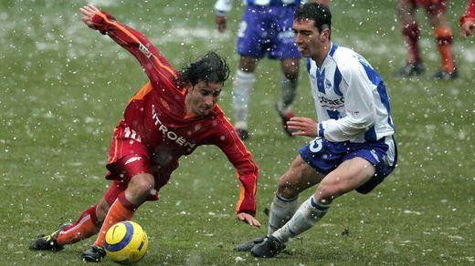 Jandro, durante el choque frente al Deportivo Alavés.