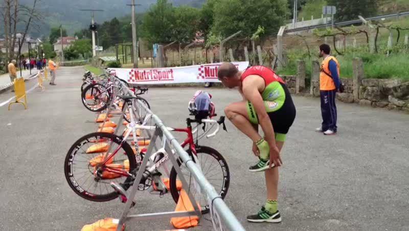 Campeonato gallego de triatlón en Leiro