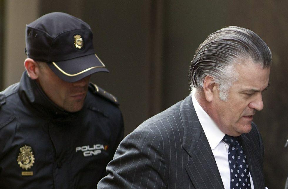 El exsenador y extesorero del PP José Luis Bárcenas, al entrar en la Audiencia Nacional en el 2013.