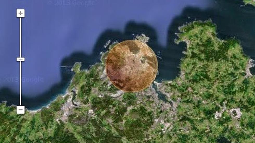Una ciudad como A Coruña sería borrada del mapa si impactase el asteroide 2004 BL806
