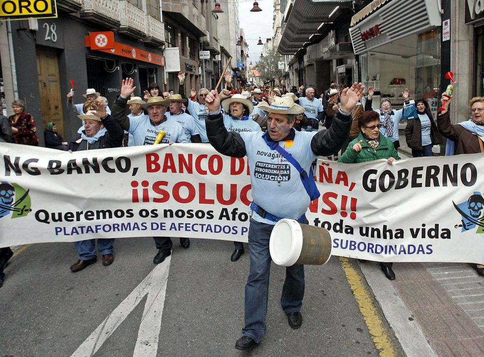 El conflicto de las preferentes ha derivado en multitud de movilizaciones en Pontevedra.