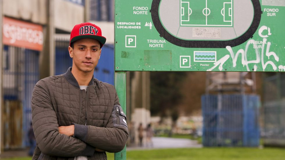 El centrocampista tinerfeño Maikel Mesa, jugador del Racing de Ferrol