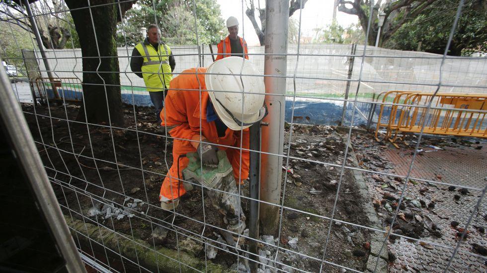 Comienzan las obras para remodelar el Cantón de Molíns antes de la Semana Santa