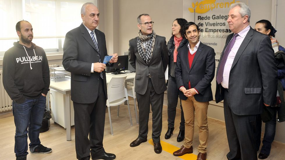 Visita del conselleiro de Cultura, Xesús Vázquez Abad, a Ferrolterra