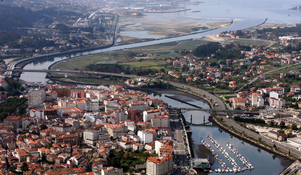El dragado pendiente afecta al tramo del río Lérez entre el Club Naval y la desembocadura.