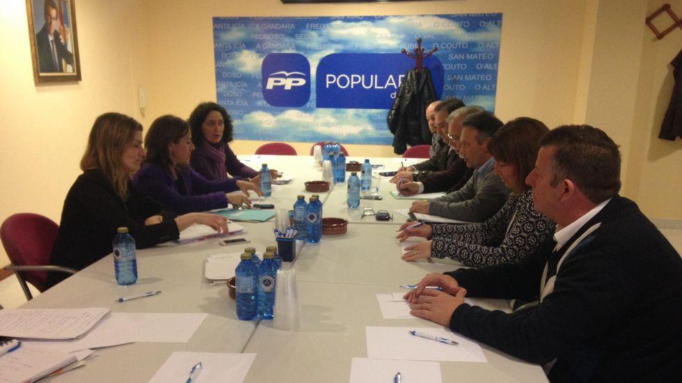 Representantes del PP en el Eume se reunieron el pasado viernes en Narón con la conselleira Ethel Vázquez