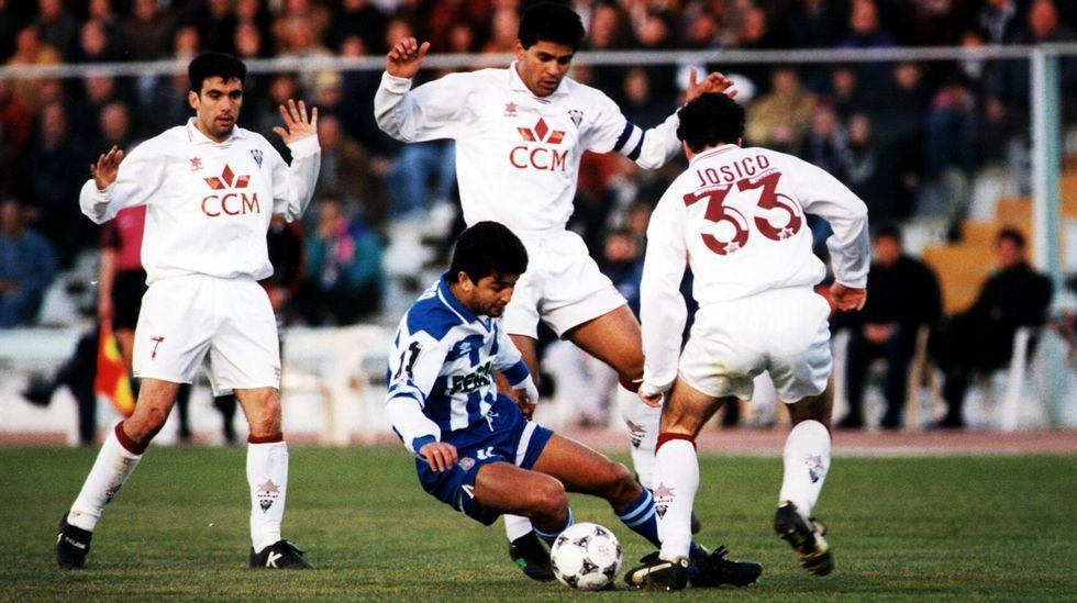 Bebeto, en n partido contra el Albacete