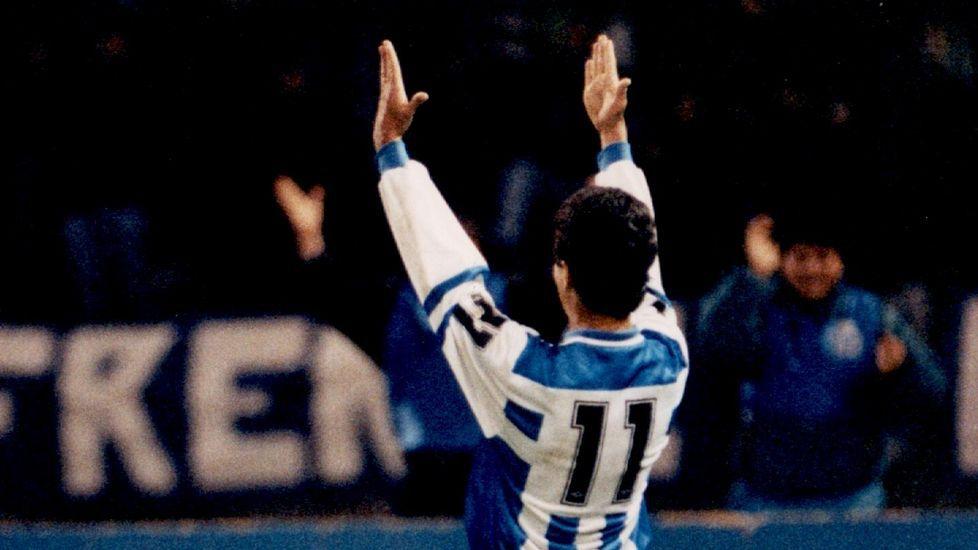 El primer hat trick de Bebeto con el Deportivo