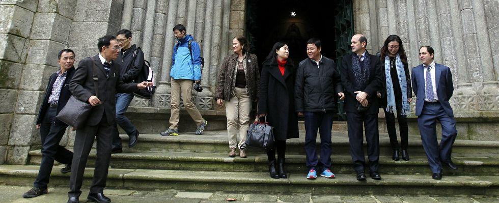 La delegación china, en su visita para sondear oportunidades de negocio en la provincia de Pontevedra, del pasado diciembre.