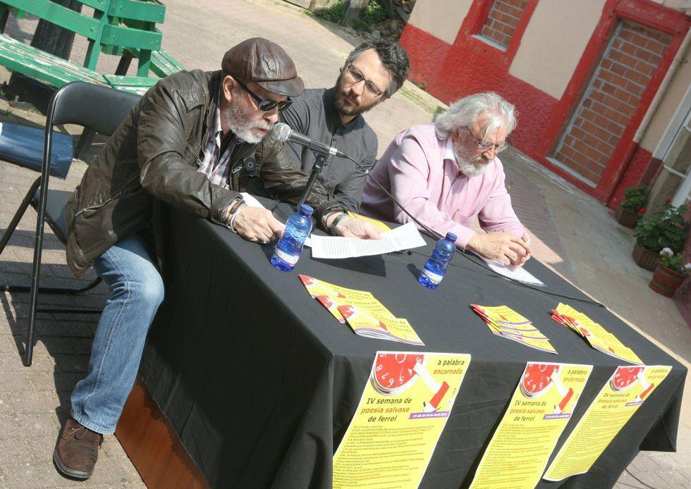 Karlotty, Taboada y Ferrández presentando la cita en el 2011.