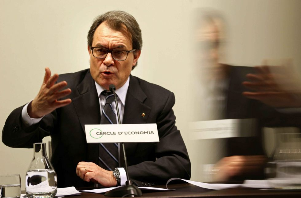 Artur Mas fue advertido ayer también por los empresarios contra su desafío independentista.