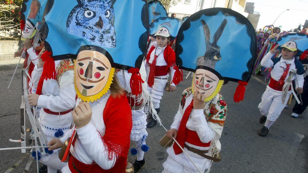 Los niños del colegio Torre, disfrazados, recorren A Illa