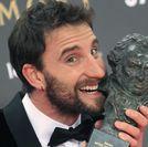 El humorista y actor Dani Rovira tras recibir el Goya al mejor actor revelación por «Ocho apellidos vascos».