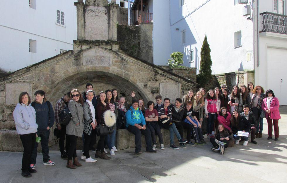 Estudiantes del College de Worcester de intercambio en Mondoñedo.