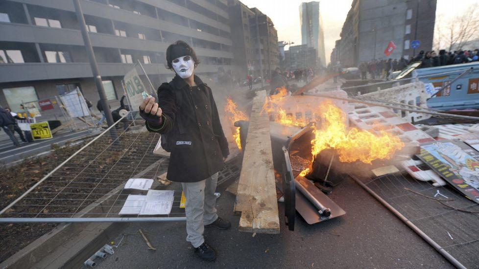 Todas las imágenes de los disturbios en Fráncfort