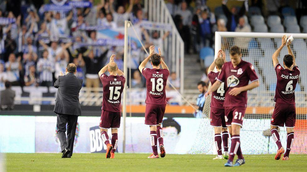 El Real Sociedad-Deportivo, en imágenes