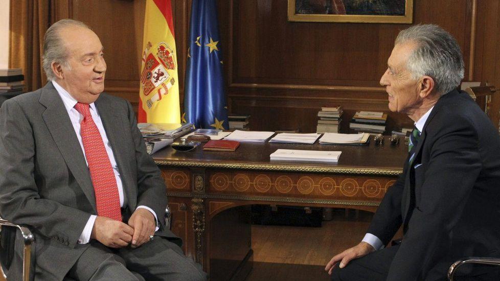 Entrevista del rey Juan Carlos I con Jesús Hermida en TVE