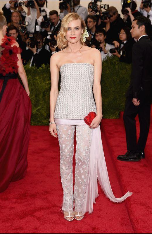 Diane Kruger con un dos piezas de Chanel
