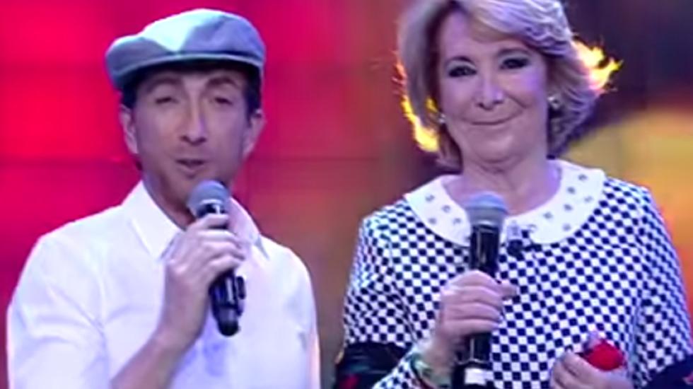 Pablo Motos y Esperanza Aguirre comparten un chotis