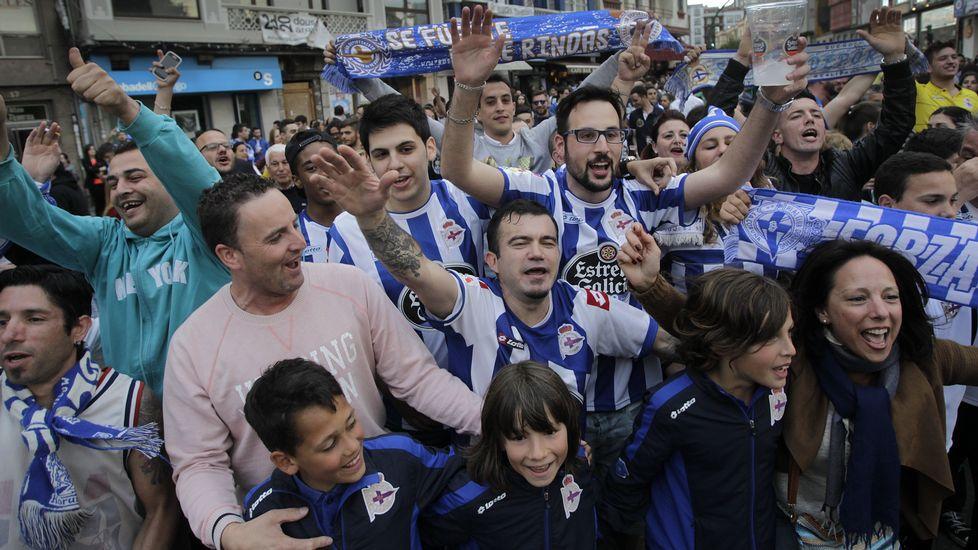 Sufrimiento y fiesta en A Coruña