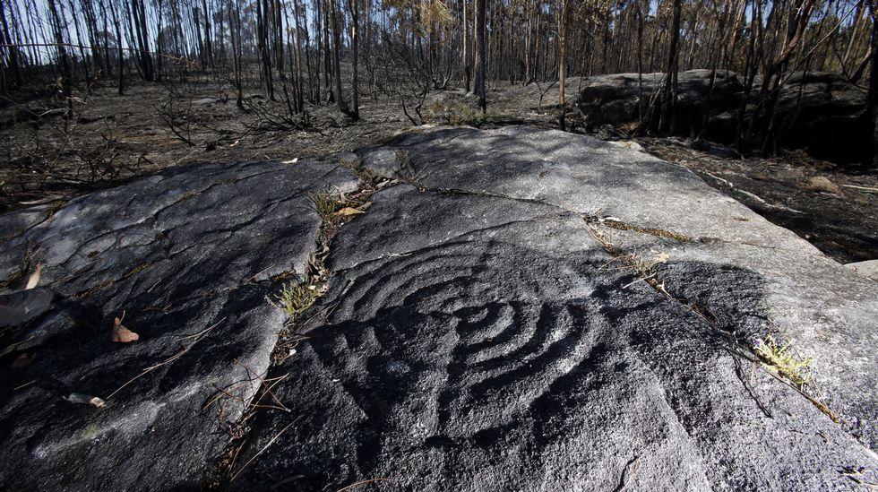 Yacimientos arqueológicos calcinados en Calo
