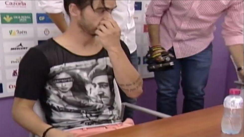 Nuno Silva y la camiseta de Franco