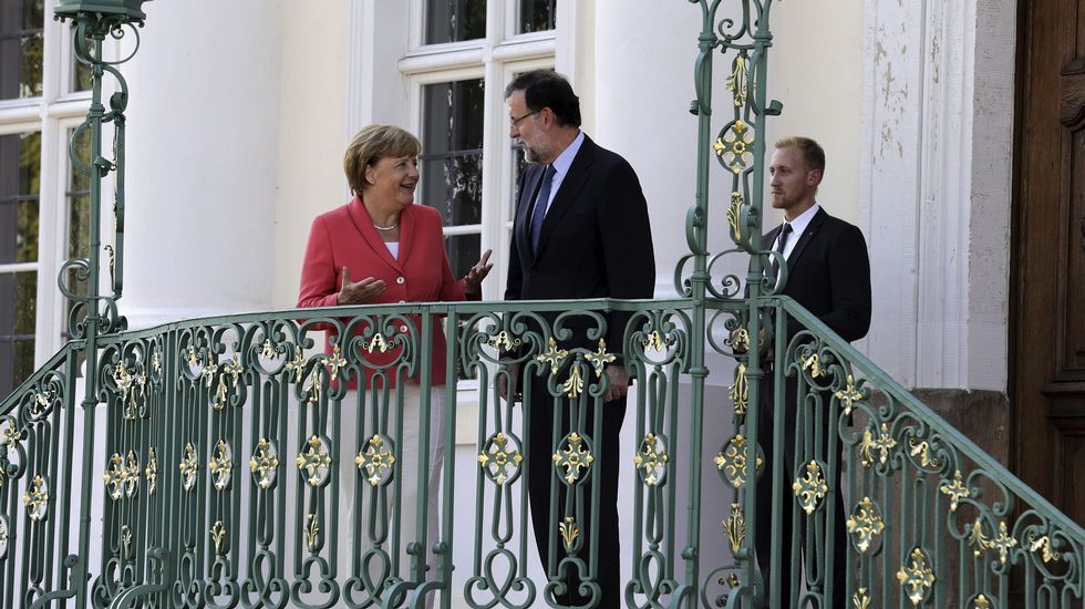 El encuentro entre Merkel y Rajoy