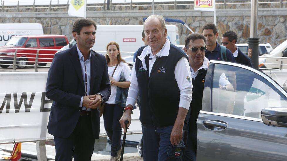 El rey Juan Carlos, de visita en Sanxenxo