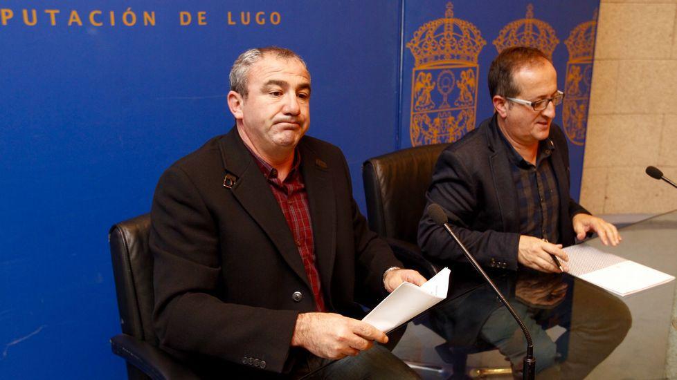 Darío Campos estaba con cara de circunstancias mientras Antonio Veiga, sonreía
