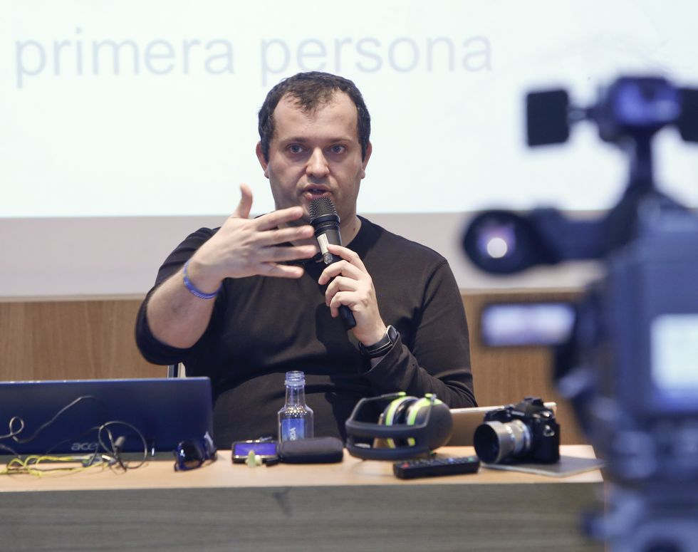 Mario Grueiro en un momento de la conferencia.