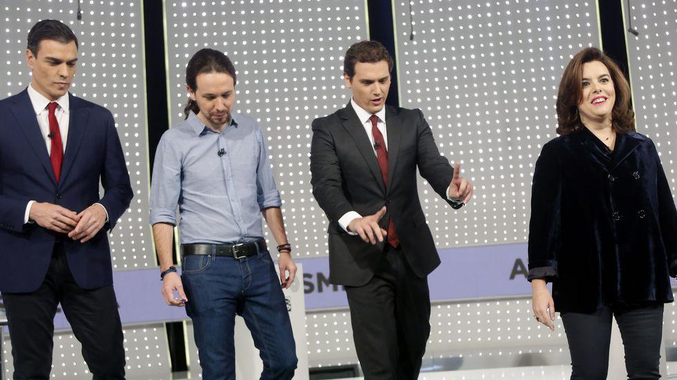 El debate televisivo a cuatro, en fotos