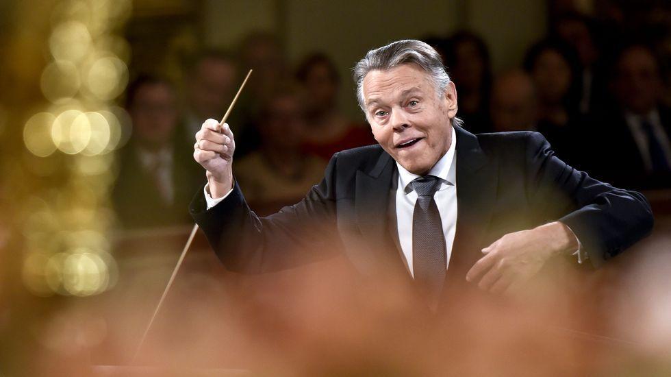 Jansons dirigía el tradicional concierto por tercera vez