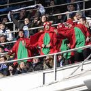 Aficionados del Dépor el pasado mes de febrero en el Bernabéu