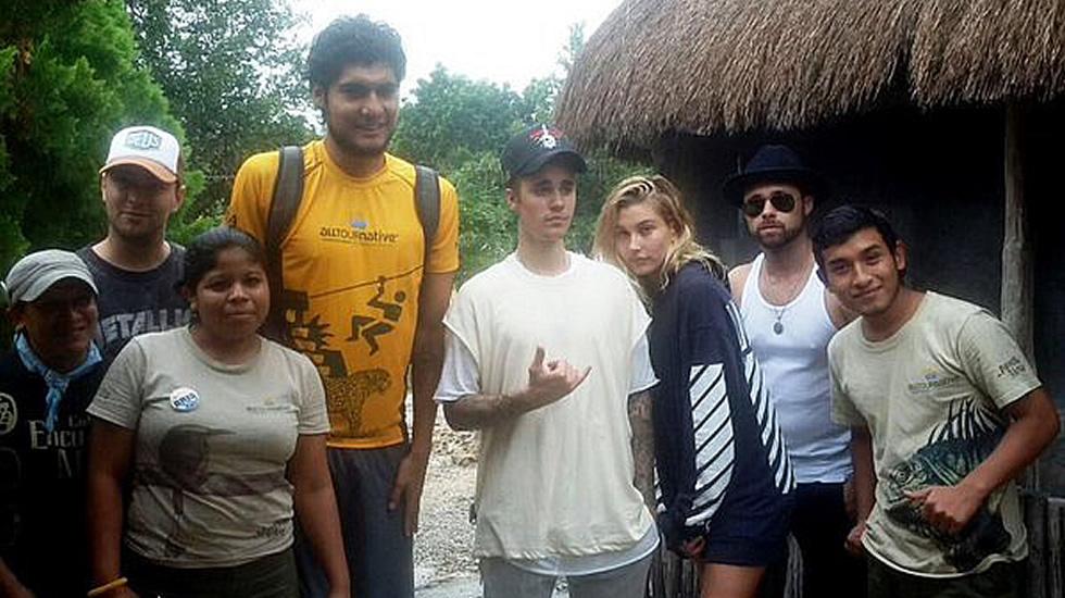 Justin Bieber de vacaciones en la Riviera Maya