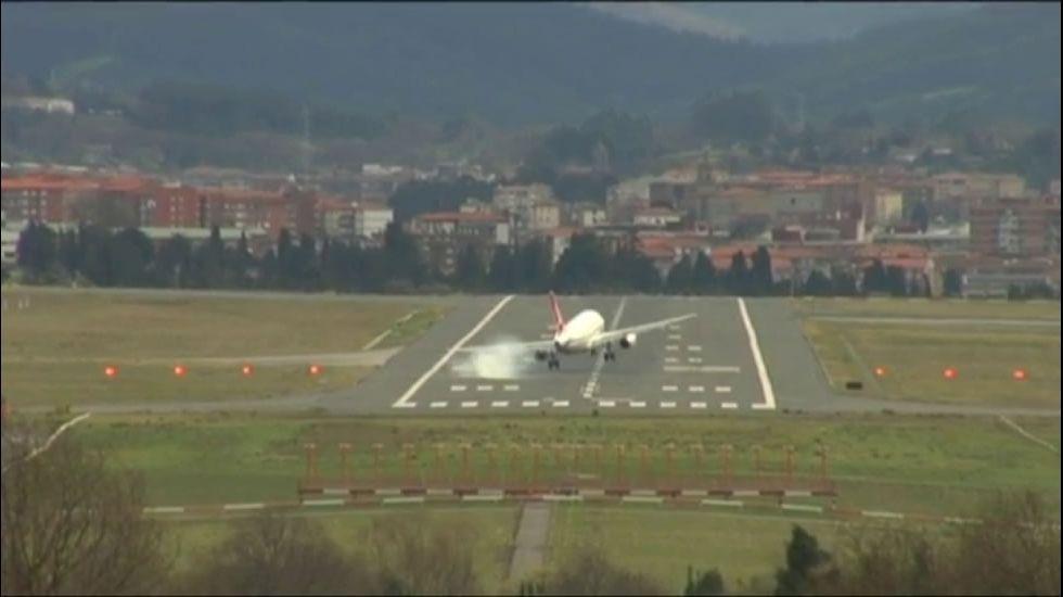 Pánico en el aeropuerto de Bilbao