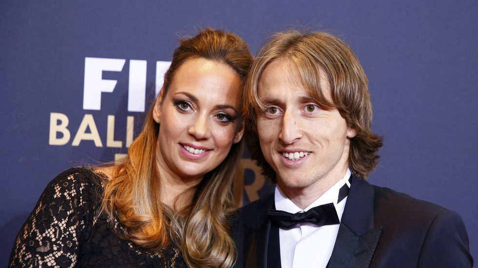 Luka Modric y su mujer Vanja Bosnic.