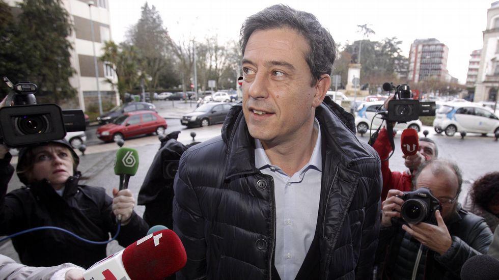 Besteiro llega a los juzgados de Lugo