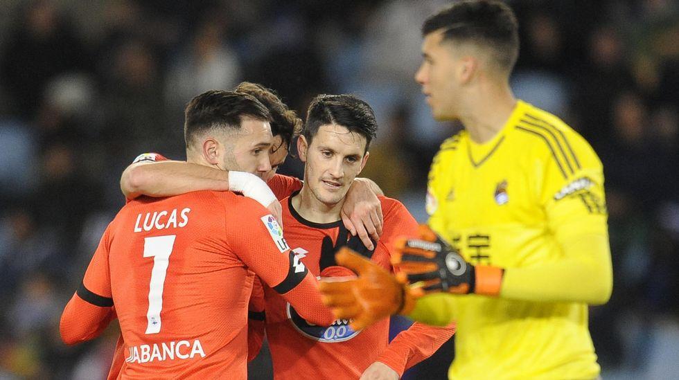 El Real Sociedad-Deportivo, en fotos