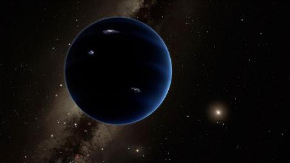 Una recreación artística del Planeta Nueve.