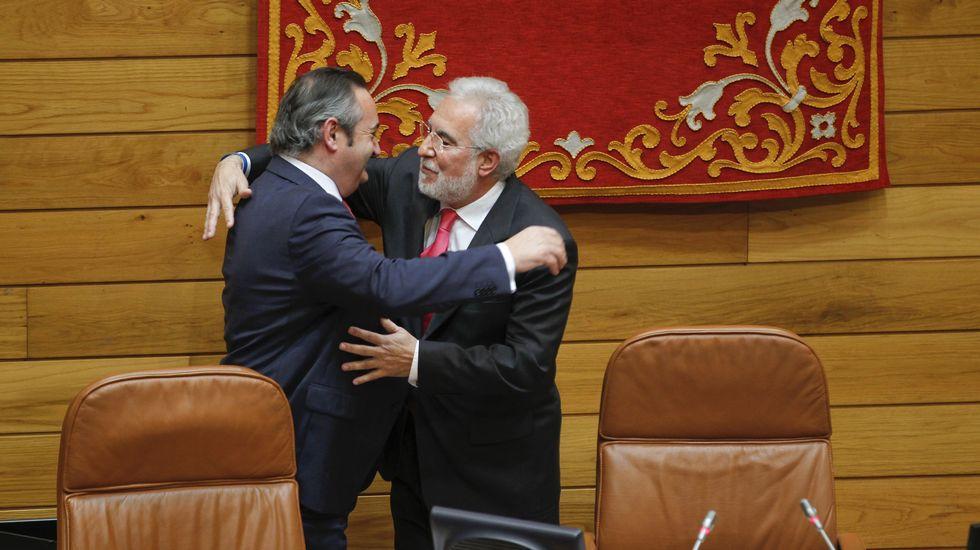 Santalices se estrena como presidente del Parlamento de Galicia