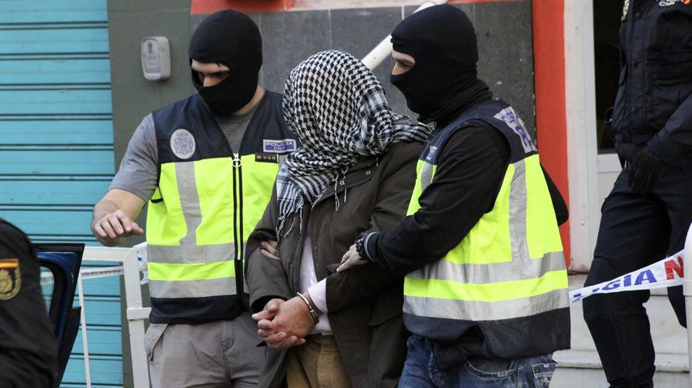 Momento de la detención de los terroristas