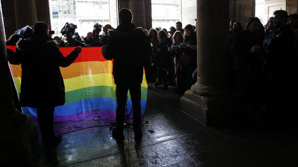 Concentración contra la homofobia.