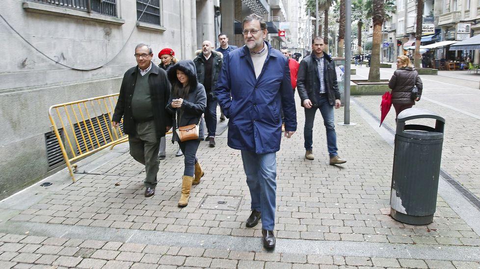 Rajoy paseando por Pontevedra el pasado mes de diciembre